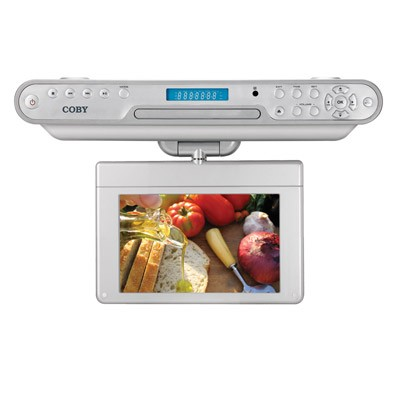 7 ` TFT Under the Kitchen Counter DVD Player with Digital ATSC TV Tuner