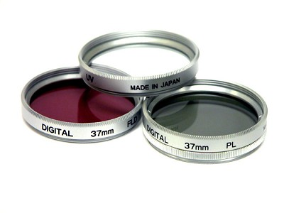 49mm UV, Polarizer & FLD Deluxe Filter kit (set of 3 + carrying case)