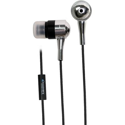Discovery DX Metal Inline Mic Earphones - Silver