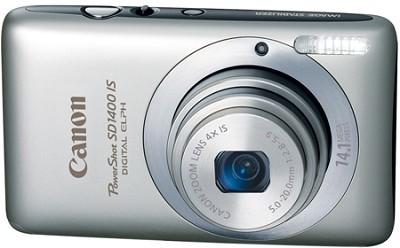 PowerShot SD1400 IS Digital 14.1 MP ELPH Digital Camera (Silver)