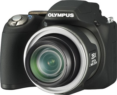 SP-590 Ultra-Zoom 12MP 2.7` LCD Digital Camera (Black) - REFURBISHED