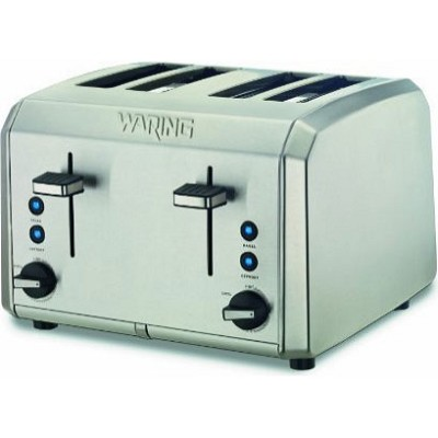 WT400 Professional 4 Slice Toaster, Brushed Stainless Steel  - OPEN BOX