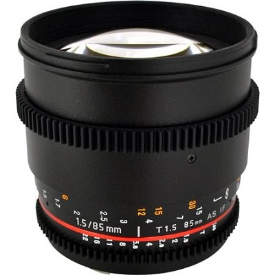 85mm T1.5 Aspherical Cine Lens for Nikon Mount