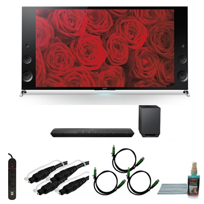 XBR79X900B - 79-inch 120Hz 3D LED X900B Premium 4K Ultra HD TV Bundle