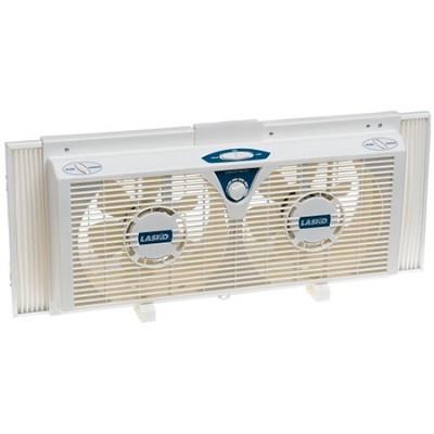 8` Electrically Reversible Twin Window Fan - 2138 - OPEN BOX