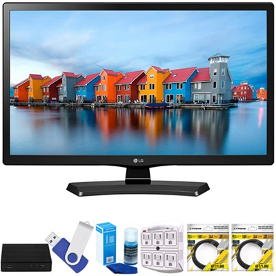 24` Smart LED TV 2017 Model 24LH4830-PU with Terk Tuner Bundle