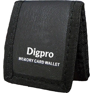 DIGPRO  Tri-fold Memory Card Wallet - Stores up to 3 Memory Cards