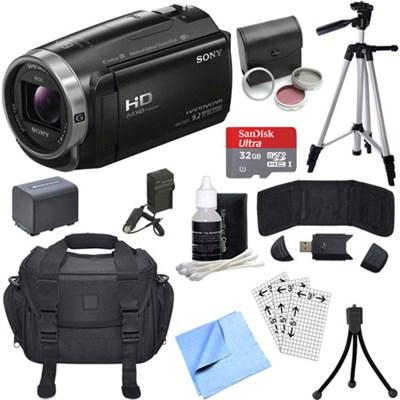 HDR-CX675/B Full HD Handycam Camcorder with Exmor R CMOS Sensor Bundle