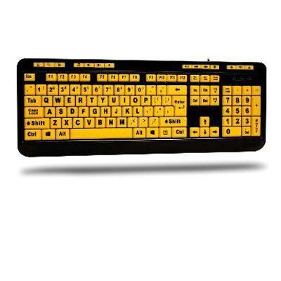 EasyTouch 132 Luminous 4X Large Print Multimedia Desktop Keyboard - AKB-132UY
