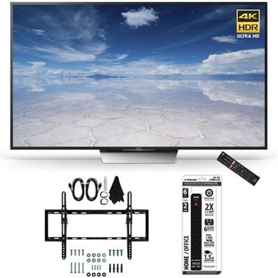 XBR-55X850D 55-Inch Class 4K HDR Ultra HD TV Flat + Tilt Wall Mount Bundle