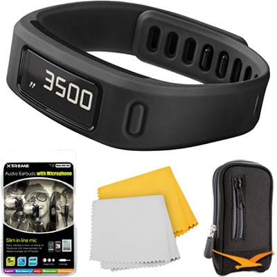 Vivofit Bluetooth Fitness Band Plus Accessory Bundle (Black)(010-01225-00)