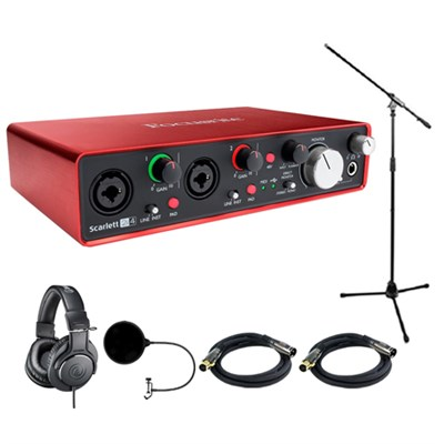 Scarlett 2i4 USB Audio Interface (2nd Gen) w/ Headphone Bundle