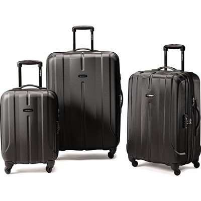 Fiero HS 3 Piece Luggage Nested Set - Black