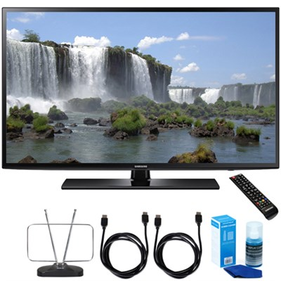 UN60J6200 - 60` FHD 1080p 120hz Smart LED HDTV + Cord & Clean-Up Bundle