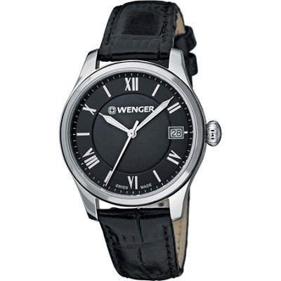 Ladies Terragraph Watch - Black Dial/Black Leather Strap