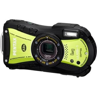 Optio WG-1 Waterproof GPS Digital Camera - Green