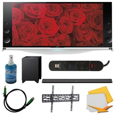 55-inch 120Hz 3D LED X900B Premium 4K Ultra HDTV and HTCT770 Sound Bar Bundle