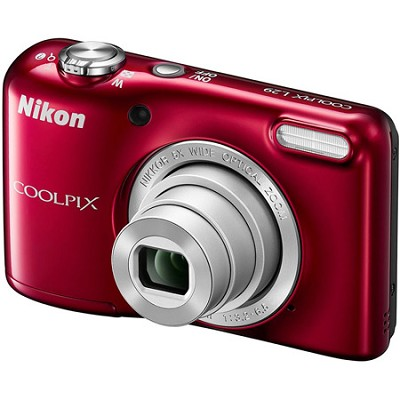COOLPIX L29 16.1 MP Digital Camera with 5x Optical Zoom (Red) Factory Refurb.