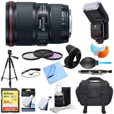 EF 16-35mm F4L IS USM Lens Ultimate Accessory Bundle