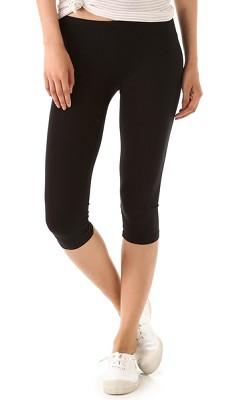 Seamless Yoga Capri Pants 6-Pack in Midnight Black ( Size L/XL )