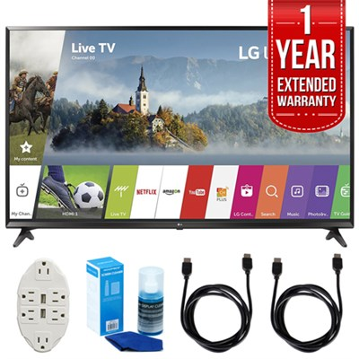 43` UHD 4K HDR Smart LED TV w/ Extended Warranty + Accessories Bundle