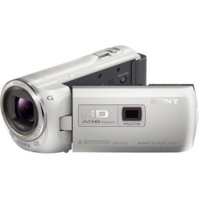 HDR-PJ380/W 16GB Full HD Camcorder with Projector (White)