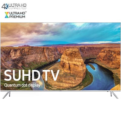 UN65KS8000 - 65-Inch 4K SUHD Smart HDR TV with Soundbar and Blu Ray Bundle