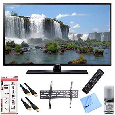 UN60J6200 - 60-Inch Full HD 1080p 120hz Smart LED HDTV Tilt Mount/Hook-Up Bundle