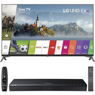 49UJ7700 49` 4K HD Smart LED TV (2017 Model) w/ UBD-M8500 HD Blu-Ray Disc Player