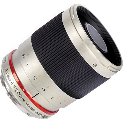 300mm F6.3 Mirror Lens for Canon M - Silver