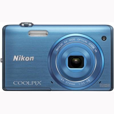 COOLPIX S5200 16 MP Built-In Wi-Fi Digital Camera - Blue