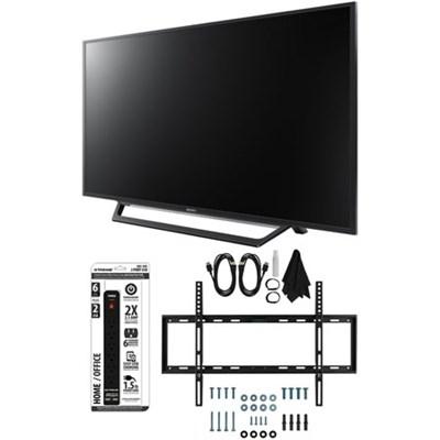 KDL-55W650D 55-Inch Full HD 1080p TV with Built-in Wi-Fi Flat Wall Mount Bundle