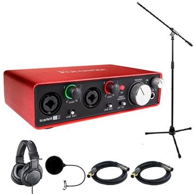 Scarlett 2i2 USB Audio Interface (2nd Generation) w/ Headphone Bundle