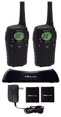 22 Channel GMRS with Batteries and Plug in Charger