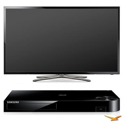PN60F5500 60` 1080p 3D WiFi Plasma Smart HDTV and Blu-ray Bundle