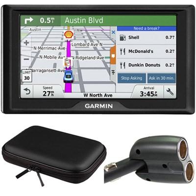 Drive 60LM GPS Navigator (US) 010-01533-0C Hardshell Case + Car Charger Bundle