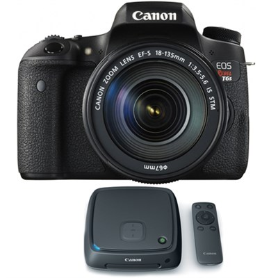 EOS Rebel T6s Digital SLR Camera w/ EF-S 18-135mm Lens + 1TB CS100 Storage Hub