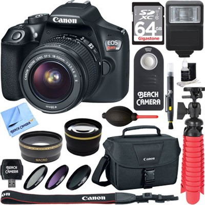 EOS Rebel T6 Digital SLR Camera with EF-S 18-55mm IS II Lens Memory & Flash Kit