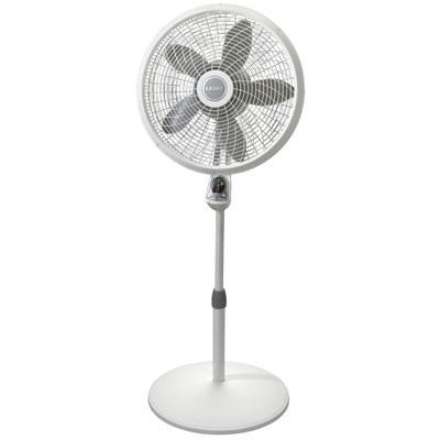 18` Remote Control Cyclone Pedestal Fan in White - 1885