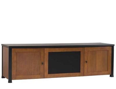 CFV69 - Lowboy 3-Shelf Cabinet for AV Equipment & TVs up to 75` (Cherry/Black)