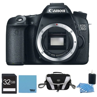 EOS 70D Digital SLR Camera Body 32GB Bundle