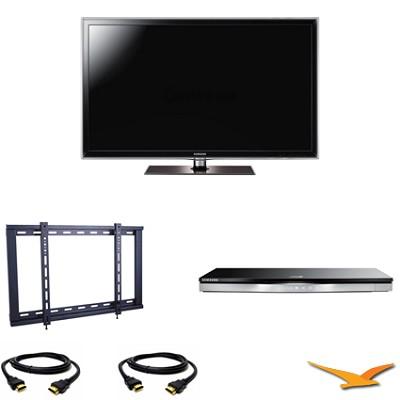 UN55D6300 55 inch 120HZ 1080p LED Smart TV Bundle