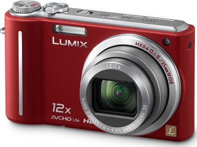 DMC-ZS3R LUMIX 10.1 MP Compact D.Camera with 12x Super Zoom (Red)**OPEN BOX**