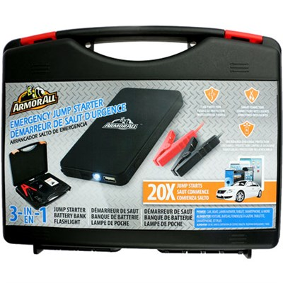 Jump Starter Kit with 6,000mAh Battery Bank