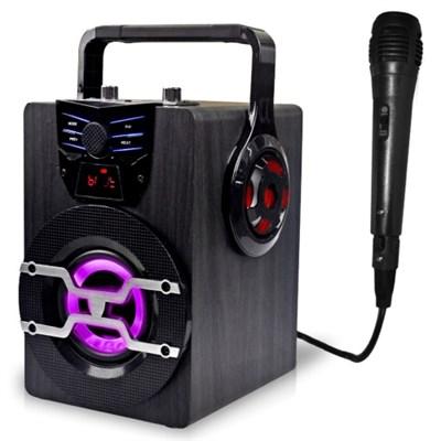Rechargeable Bluetooth LED Speaker with Wired Mic (WASP420)