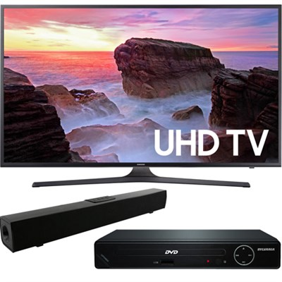 43` 4K Ultra HD Smart LED TV 2017 + HDMI DVD Player +Bluetooth Sound Bar