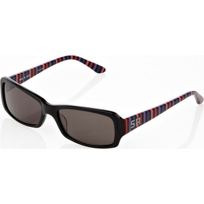 Women's Black Sunglasses with Coloful Striped Arms