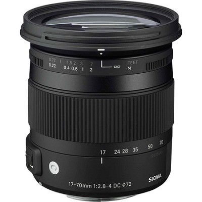 17-70mm F2.8-4 DC Macro OS HSM Lens for Canon Mount Digital SLR Cameras OPEN BOX
