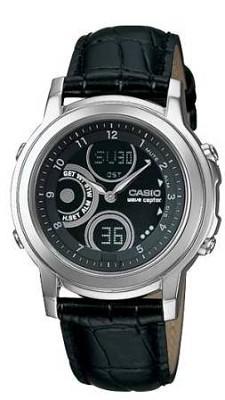 LWA120LA-1BV Ladies Waveceptor Atomic Watch w/ Black Leather Band