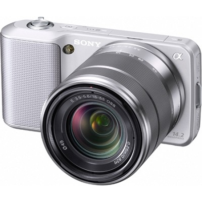 Alpha NEX-3 Interchangeable Lens Silver Digital Camera w/18-55mm Lens- OPEN BOX